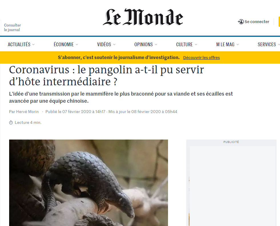 Interview in Le Monde
